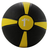 Rubber Medicine Ball 1kg (Yellow / Black)