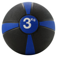 Rubber Medicine Ball 3kg (Blue / Black)