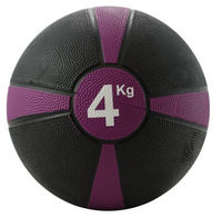 Rubber Medicine Ball 4kg (Purple / Black)