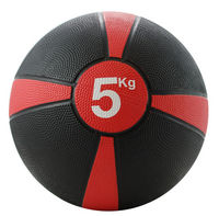Rubber Medicine Ball 5kg (Red / Black)
